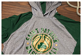 Saint Patrick Basketball Sweatshirt – Customized Apparel in Chicago, IL